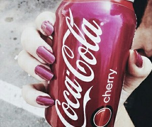 cherry, coca cola, and coke image