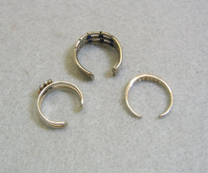 sterling silver, vintage rings, and adjustable ring image