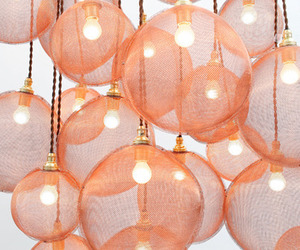 light, lamp, and pink image