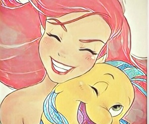 ariel and flounder image