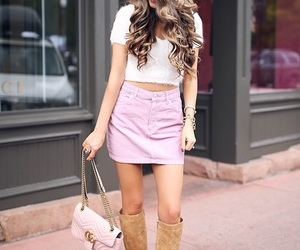 boots, girly, and pink image
