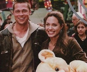 brad pitt, love, and Angelina Jolie image