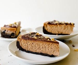 cheesecake, food, and chocolate image