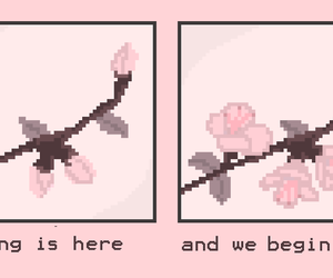 pink, aesthetic, and spring image