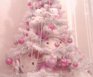 christmas, hello kitty, and pink image