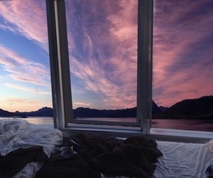 clouds, purple, and pink image