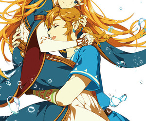 link, zelda, and couple image