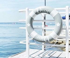 dior, blue, and beach image