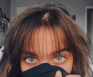 bangs, blue, and eyes image
