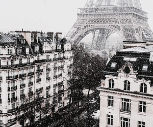paris, city, and eiffel tower image