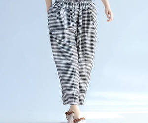 etsy, cotton pants, and leisure pants image