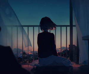 anime, art, and night image
