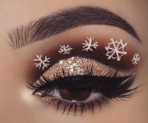 makeup, beauty, and snowflake image