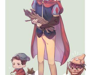 yuri on ice, snow white, and yuri image