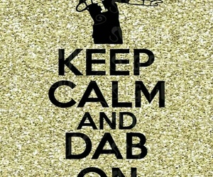 glitter, gold, and keep calm image