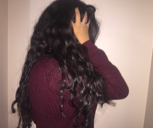 aesthetic, curly hair, and no face image