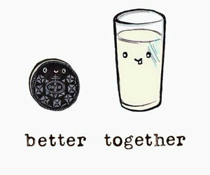 wallpaper, oreo, and milk image