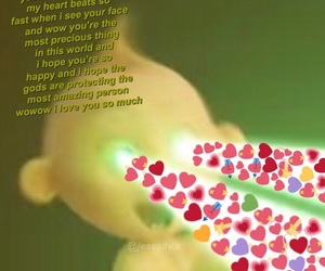green, hearts, and meme image