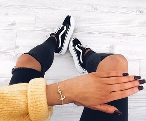 nails, vans, and fashion image
