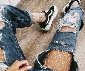 fashion, jeans, and vans image
