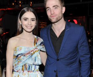 lily collins and robert pattinson image