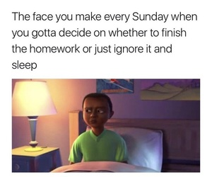 face, homework, and funny image
