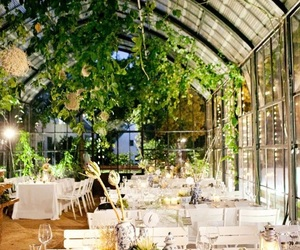 wedding and greenhouse wedding image