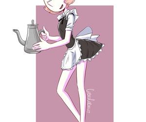 art, cartoons, and maid image