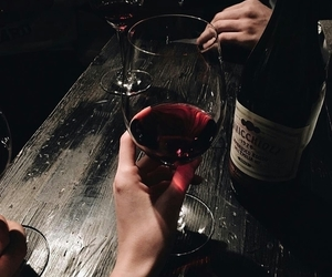 wine, red, and drink image