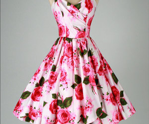 1950s, fifties, and pink roses image