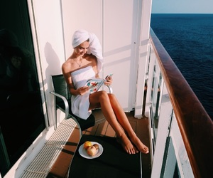 cruise, fruit, and girl image