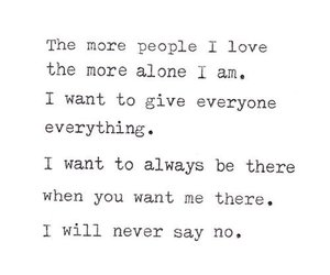 quotes, love, and alone image