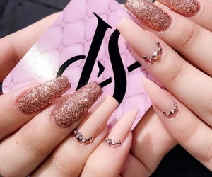 cool, nails, and glitter image