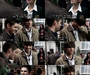 dean winchester, funny, and gay image