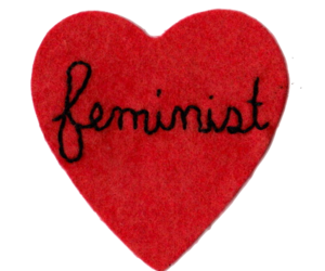 feminist, feminism, and heart image