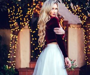 outfit, christmas, and skirt image