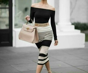 beige, fashion, and white image