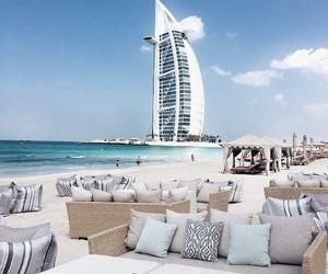 Dubai, beach, and travel image