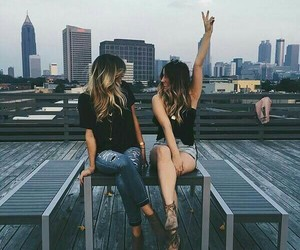 friends, city, and best friends image