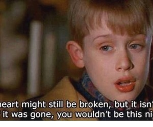 quotes, home alone, and heart image