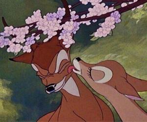 bambi, disney, and kiss image