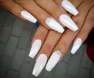 nail, white, and feher image