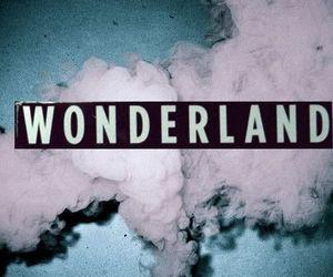 wonderland, smoke, and pink image