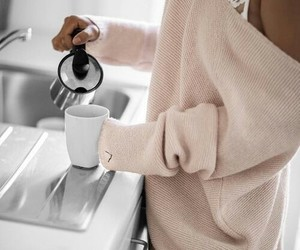 coffee, morning, and sweater image