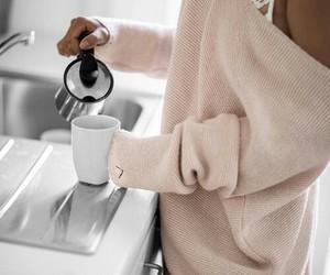 girl, coffee, and sweater image