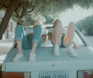 friends, car, and tumblr image