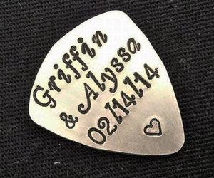 etsy, graduation gift, and custom guitar pick image