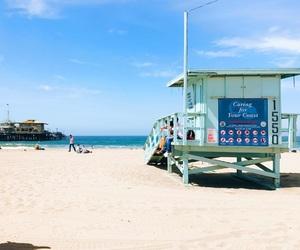 beach, california, and lifeguard image