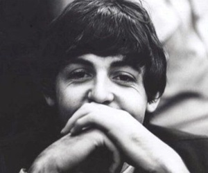 Paul McCartney, the beatles, and black and white image