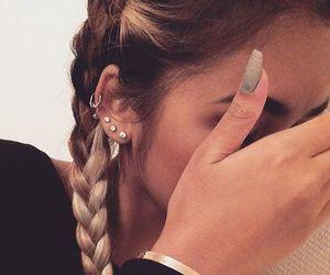 nails, piercing, and hair image
